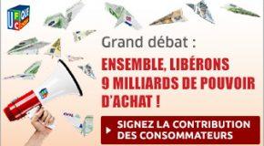 La contribution des consommateurs au Grand débat national
